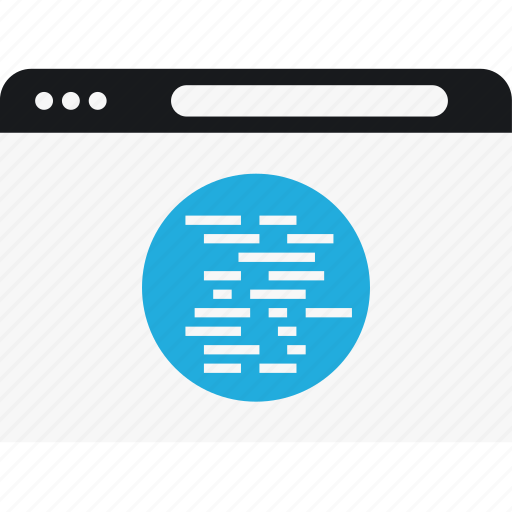code, internet, language, program, script icon
