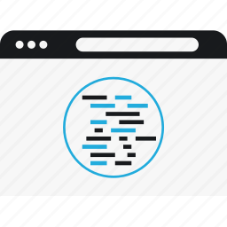 code, language, online, program, script icon