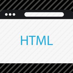 browser, html, language, program icon