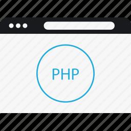 circle, language, php, program icon