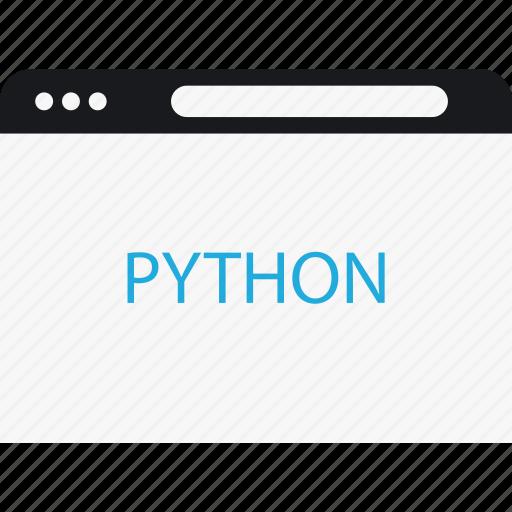 browser, language, program, python icon