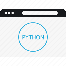 circle, internet, language, program, python icon