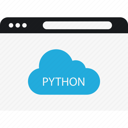 cloud, internet, language, program, python icon