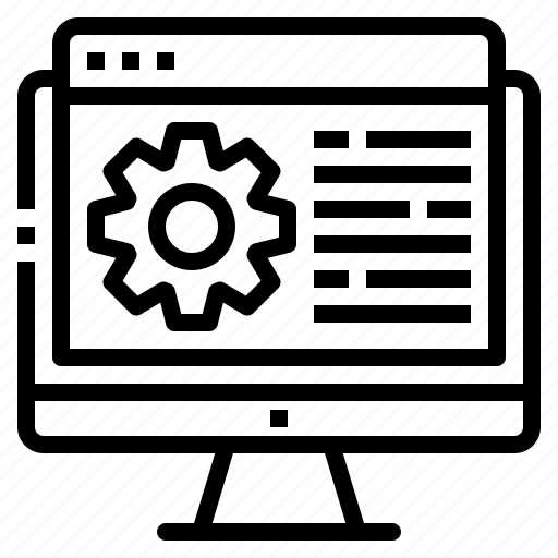 computer, design, development, programming, setting icon