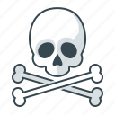 caution, danger, error, skull, warning icon