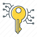 key, keyword, keywords, password icon