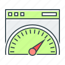 gauge, page speed, performance, seo, speed, speedometer icon