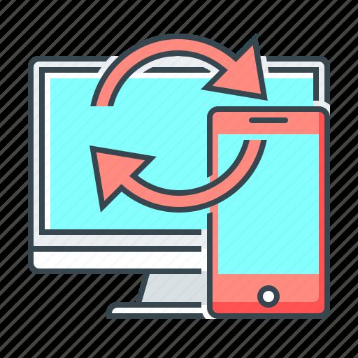 mobile, refresh, rotate, sync, synchronization icon