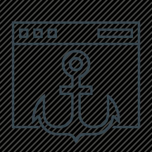 anchor, link, web, website icon