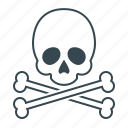 danger, dead, error, skull, warning icon