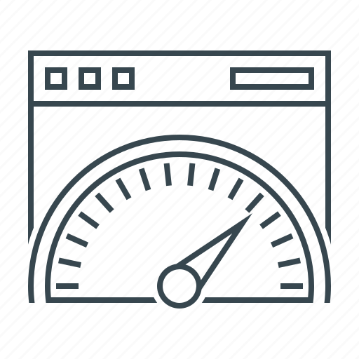 optimization, performance, seo, speed, speedometer icon