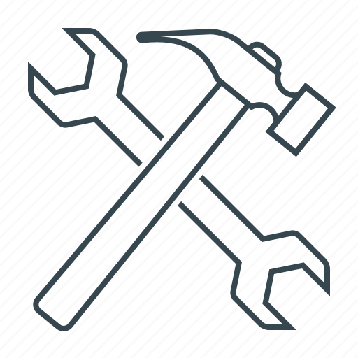 hammer, repair, service, tools, work, wrench icon