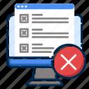 cancel, computer, development, error, pc, web, website icon