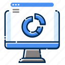 analytic, computer, development, feature, graph, pc, web icon