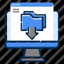development, download, feature, file, folder, pc, web icon