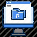 album, development, feature, file, folder, music, web icon