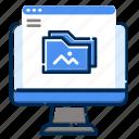 album, development, feature, file, folder, picture, web icon