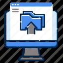 computer, development, file, folder, pc, upload, web icon