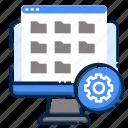 computer, development, folder, management, pc, web icon