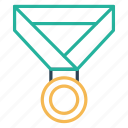 achivement, gold, medal, sports, winner icon