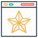 envelope, file, medal, star icon