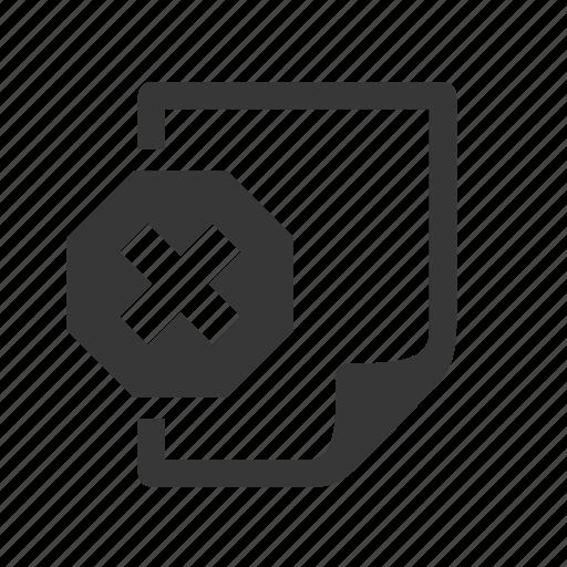 delete document, document, file, raw, remove, simple, web document, web file icon