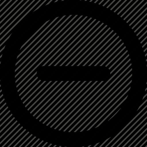 Minus, circle, remove, cancel, delete, round icon - Download on Iconfinder