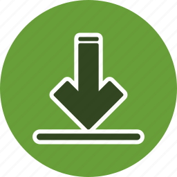 data, down arrow, download, load icon
