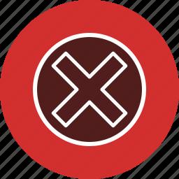 cancel, close, delete, remove, x icon