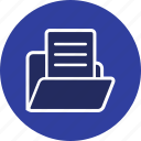 data, document, document in folder, folder icon