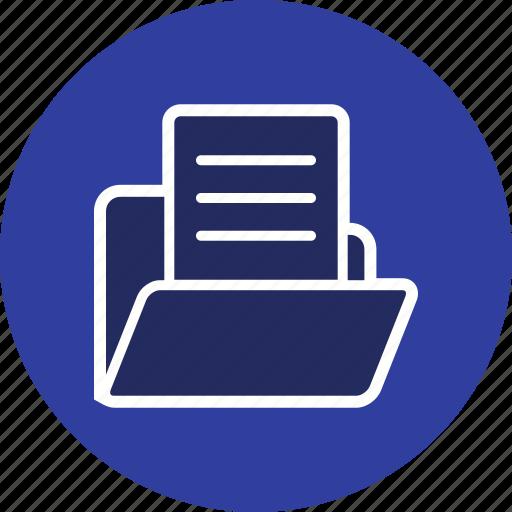 data, document, document in folder, folder icon