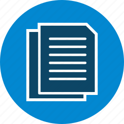 documents, extension, file, paper icon