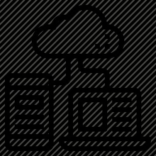 cloud, computer, data, information, internet, smart icon