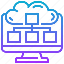 access, cloud, communication, computer, desktop, planner icon