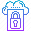 cloud, data, lock, protect, security