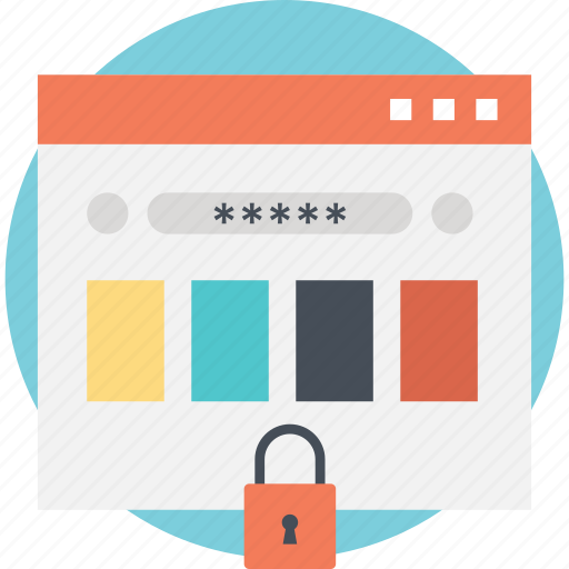 protected sign in, safe browsing, safe web access, secure login, web page locked icon