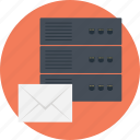 communication support server, custom email server, email provider, mail server, mail server support icon