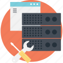 data server management, server maintenance, web maintenance tools, web server, web server management icon
