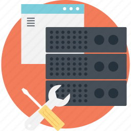 data server management, server maintenance, web maintenance tools, web server, web server management icon