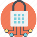 information security, network integration, network protection, network security, web security lock icon