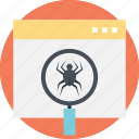 a spider, internet bot, web crawler, web indexing, web scraper icon