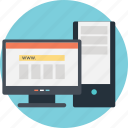 computer desk, workstation, cpu, office set up, monitor