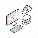 cloud computing, cloud download, cloud hosting, cloud network, cloud technology icon