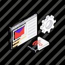 data store, digital storage, file server, file storage, online database icon