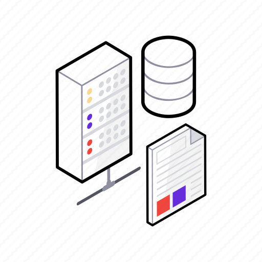 data hosting, data storage, database sharing, datacenter, internet hosting icon