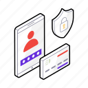 data collection, data privacy, data protection, data security, personal data icon