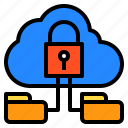 cloud, connection, network, protection, security icon