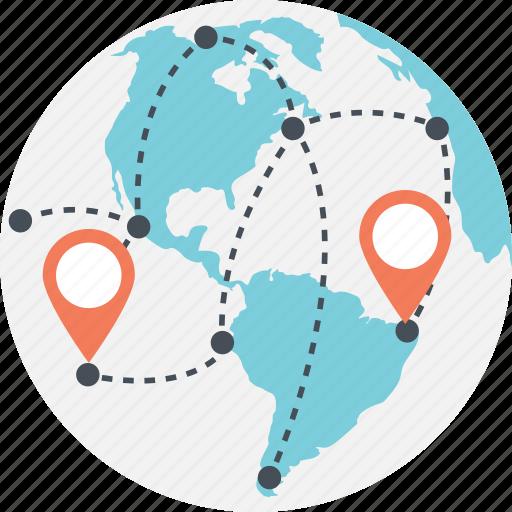 global network, global positioning system, global technology, gps, satellite navigation icon