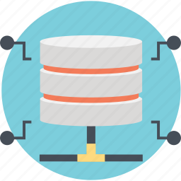 data hosting device, data networking, database, network, server icon