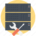 database maintenance, database service, server maintenance, server management, server repair icon